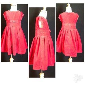 Gymboree Red Velvet Holiday Portrait Dress 4 EUC